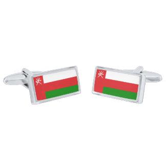 Flag of Oman Cufflinks Silver Finish Cufflinks