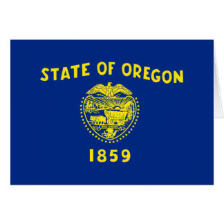 Flag of Oregon Note Card
