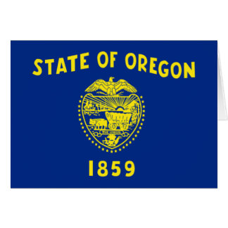 Flag of Oregon Greeting Cards