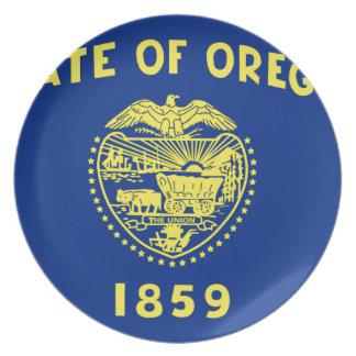 Flag Of Oregon Plate