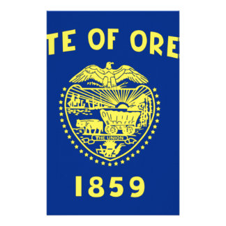 Flag Of Oregon Stationery