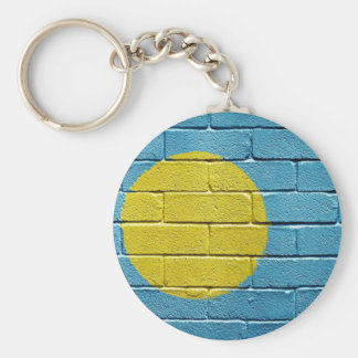 Flag of Palau Basic Round Button Key Ring