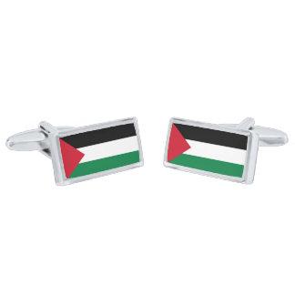 Flag of Palestine Cufflinks Silver Finish Cuff Links