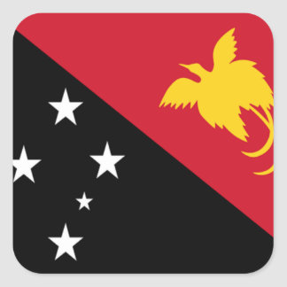 Flag of Papua New Guinea Square Stickers