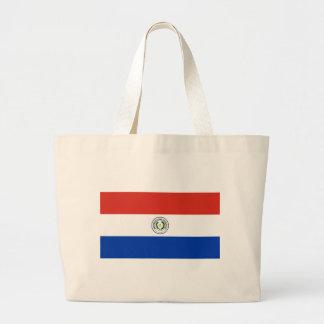 Flag of Paraguay - Bandera de Paraguay Large Tote Bag