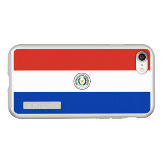Flag of Paraguay Silver iPhone Case