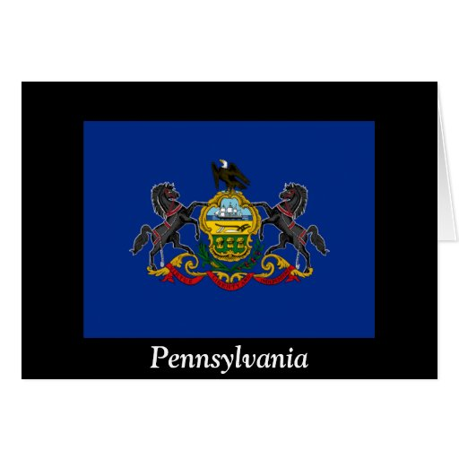 Flag of Pennsylvania Greeting Cards