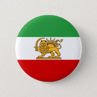 Flag of Persia / Iran (1964-1980) 6 Cm Round Badge