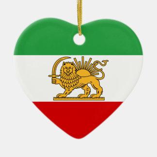 Flag of Persia / Iran (1964-1980) Ceramic Heart Decoration