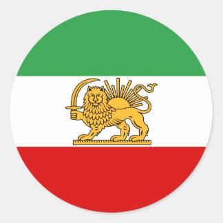 Flag of Persia / Iran (1964-1980) Classic Round Sticker