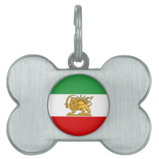 Flag of Persia / Iran (1964-1980) Pet Name Tag