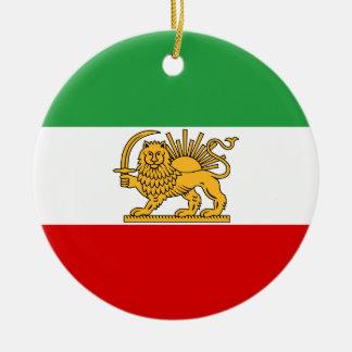 Flag of Persia / Iran (1964-1980) Round Ceramic Decoration