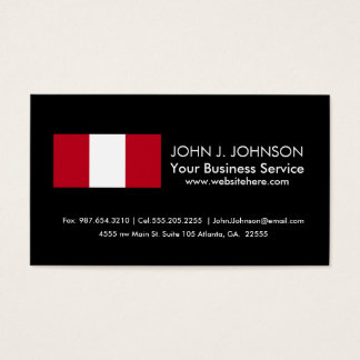 Flag of Peru Business Card