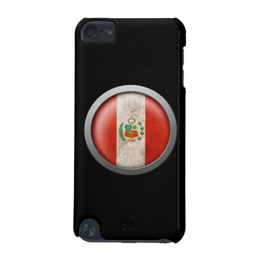 Flag of Peru Disc iPod Touch 5G Cases