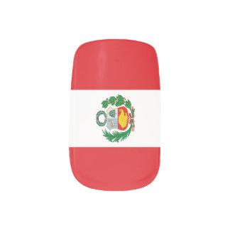 Flag of Peru Minx Nail Art