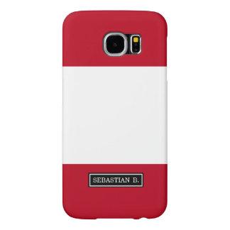 Flag of Peru Samsung Galaxy S6 Cases