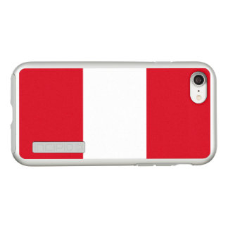 Flag of Peru Silver iPhone Case
