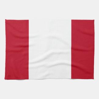 Flag of Peru Tea Towel