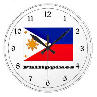 Flag of Philippines Large Clock