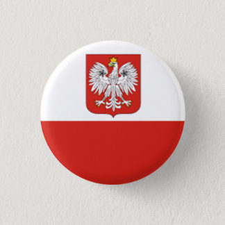 Flag of Poland 3 Cm Round Badge