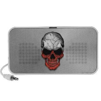 Flag of Poland on a Steel Skull Graphic Speaker System