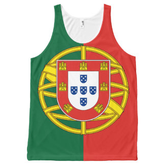 Flag of Portugal All-Over Print Singlet