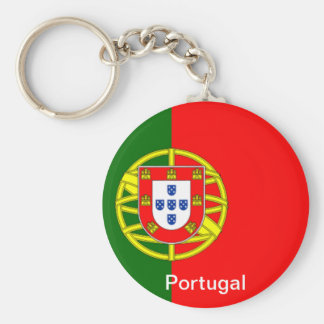 Flag of Portugal Basic Round Button Key Ring