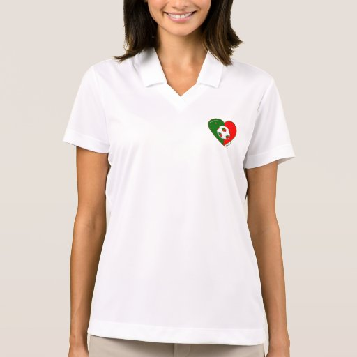 Flag of PORTUGAL SOCCER of national team 2014 Polo T-shirts