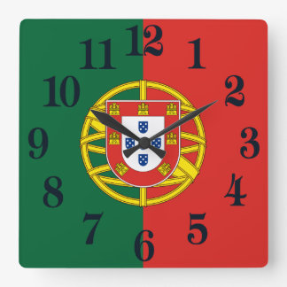Flag of Portugal Square Wall Clock