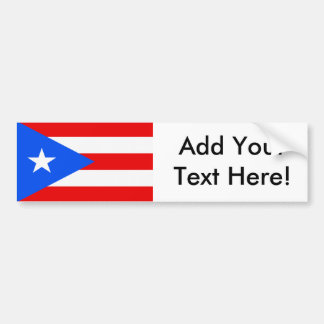 Flag of Puerto Rico Bumper Sticker
