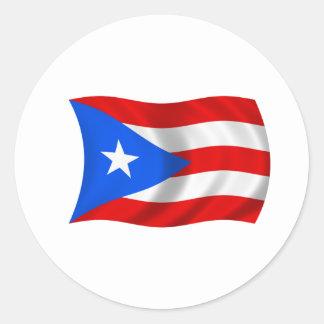 Flag of Puerto Rico Classic Round Sticker