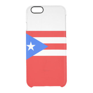 Flag of Puerto Rico Clear iPhone Case