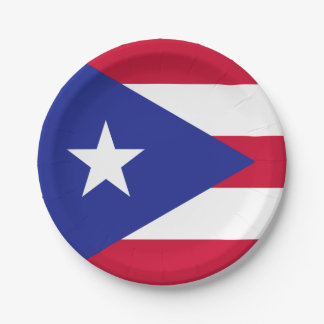 Flag of Puerto Rico Paper Plate