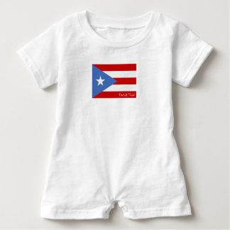 Flag of Puerto Rico: Patriotic Baby Bodysuit