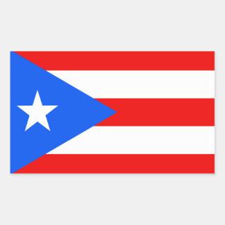 Flag of Puerto Rico Rectangular Sticker