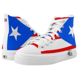 Flag of Puerto Rico Shoes Printed Shoes