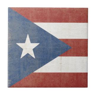 Flag of Puerto Rico Tile