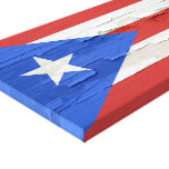Flag of Puerto Rico Weathered Paint Canvas Print