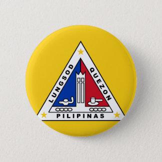 Flag of Quezon city, in the Philippines. 6 Cm Round Badge