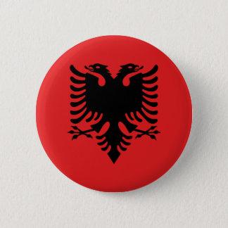 Flag of Republic of Albania 6 Cm Round Badge