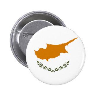 Flag of Republic of Cyprus 6 Cm Round Badge
