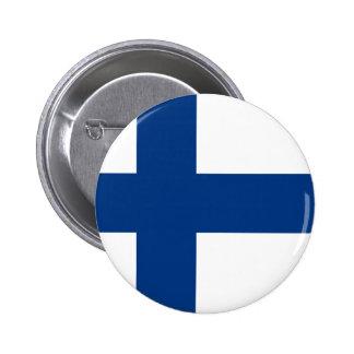 Flag of Republic of Finland 6 Cm Round Badge