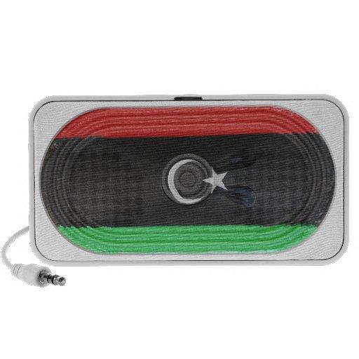 Flag Of Republic of Libya Loudspeaker FX On Doodle Mini Speakers