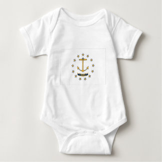 Flag Of Rhode Island Baby Bodysuit