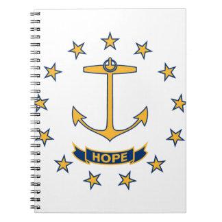 Flag Of Rhode Island Notebooks