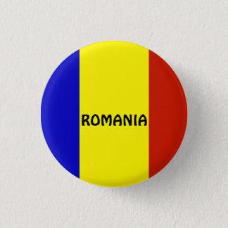 Flag of Romania 3 Cm Round Badge