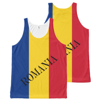 Flag of Romania All-Over Print Singlet
