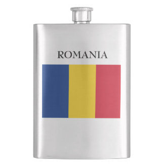 Flag of Romania Hip Flask