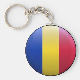 Flag of Romania Key Ring