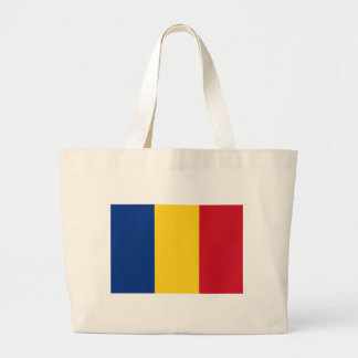 Flag_of_Romania Large Tote Bag